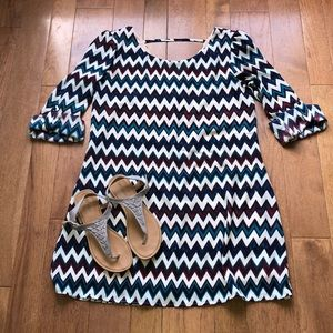 Speechless xl chevron dress